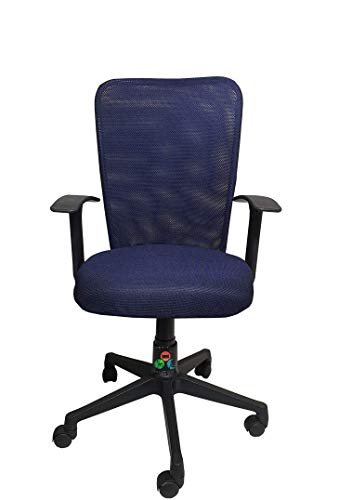 The Chair House -C83 Mid Back Mesh Fabric Office Chair (Mid-Back, Dark Blue)