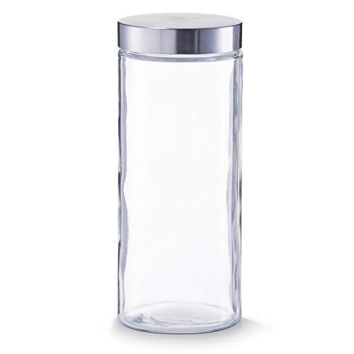 Zeller Vorratsglas, Frischhaltebehälter, 2100 ml, Edelstahldeckel