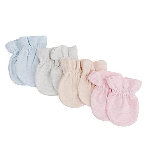MMBABY 4 Paare Neugeborenen Handschuhe.Alter: 0-6 Monate (4 Paare(Kein Seil-0-6 Monate)