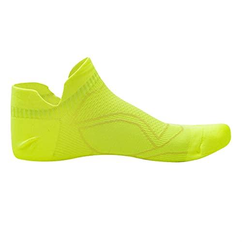 Calcetines Mujer Corriendo 1 par Delgado Antideslizante Antideslizante sin Sudor Calcetines Deportivos maratón Baloncesto Yoga atlético Hombres Mujeres (Color : A Yellow, Size : Female Size 36 41)