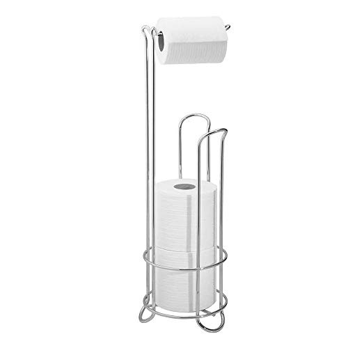 WJX Badkamer Vrijstaand Toiletpapier Houder, Toilet Tissue Stand, Opslag Organisatie, Reserve Roll Opslag, Houdt 3 Mega Rolls