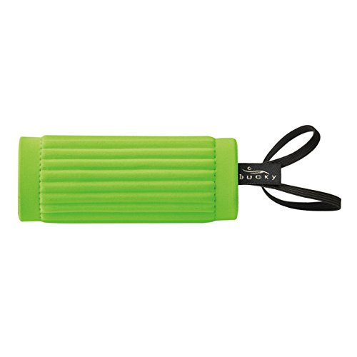 Bucky IdentiGrip, Luggage ID Tag Holder, Wraps Around Handle of Bag, Cushioned for Carrying, Easily Identify Your Bag - Lime Green