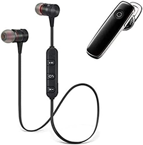 CRAYOTALK LABEL Combo Pack Wireless Earphone Bluetooth Headset HiFi Extra Bass Earphone Hands Free Bluetooth Earphone Noise Cancellation with Mic for iPhone All Smartphone
