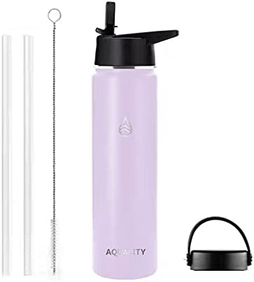 AQUALITY reusable Dealing full price reduction water Selling rankings bottle with straw insulated stainless s