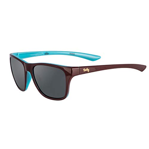 Berkley Ber005 Sunglasses Ber005 Polarized Women's Fishing Sunglasses, Gloss Chocolate Turquoise/Smoke