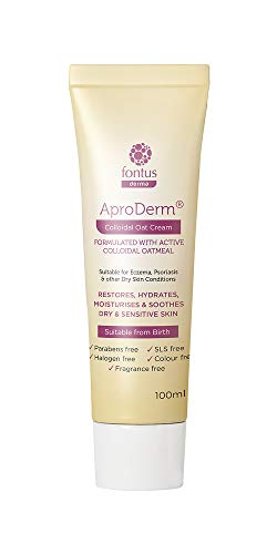 AproDerm Colloidal Oat Cream - 100ml - Paraffin Free Cream - Suitable for Dry Skin, Eczema and Psoriasis