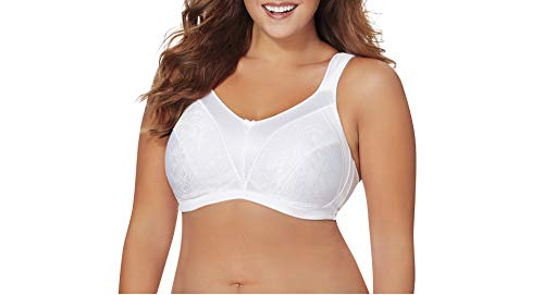 Just My Size Women's Cushion Strap Minimizer Bra MJ1979, White, 50D