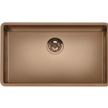 SMEG VSTR71CUX Mira - Fregadero de cocina colgante, acero inoxidable, cobre