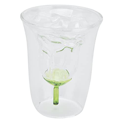 Vasos con aislamiento de doble pared, copa de vino transparente para fiestas, bodas, regalos para vino tinto y blanco (180 ml)