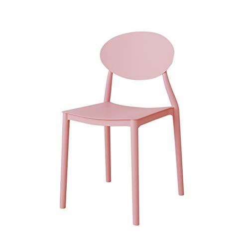 ZT Simple Silla Escritorio del Estudiante y Las heces Equipo de Maquillaje Silla de Vuelta a casa a cenar la Silla Durabilidad (Color : Pink)