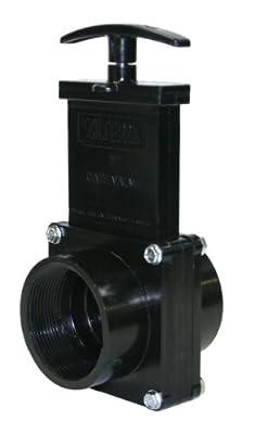 "Valterra 7207 ABS Gate Valve, Black, 2"" FPT by Valterra Products"