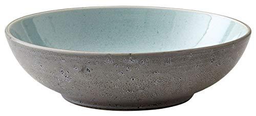 BITZ Steingut zweifarbig schwarz Teller tief Ø 20 cm Light Blue