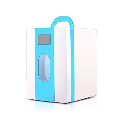 Refrigerador Cosmético Portátil, Refrigerador De Mantenimiento Fresco con Máscara Cosmética, Mini Refrigerador Doméstico De Coche De 10L para Dormitorio De Estudiantes, Azul