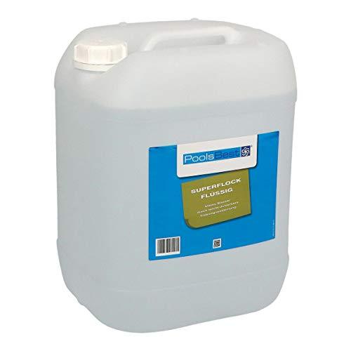 POOLSBEST® 22 kg Superflock flüssig für Pool - hochkonzentriertes Flockungsmittel fürs Schwimmbad - flüssiger Trübungsentferner für Sandfilter
