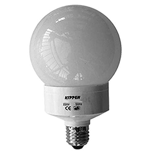 Kippen 1413C1 - Lampada a Risparmio Energetico Modello 'Globo', 20 Watt. Luce fredda 6500K