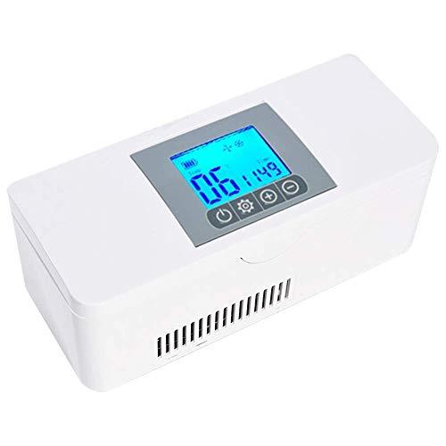 Wghz Autokühlschrank Insulinkühler Kühlschrank, tragbarer Medizin Kleiner Kühlschrank, wiederaufladbarer USB-LCD-Monitor Medizinischer Minikühlschrank (schnelle Abkühlung 2-8 ° C)