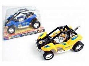 Spielzeug Quad Hat retrofriction blau gelb 14x 9cm Hundespielzeug