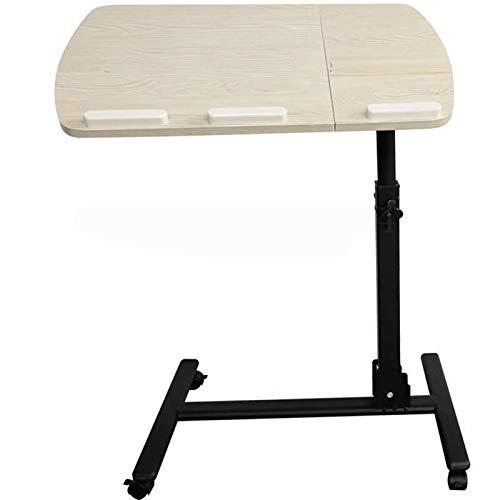 RKRZLB Laptop-Tisch-Computer-Made-Tabellen-Bett Heben Kann Den Desktop-Tilt Tilt Einfachen Mobil Tabelle Speichert Raum Faulen Schreibtisch Beistelltisch (Color : Beige)
