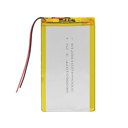 yfkjh 3560107 3.7v 3000mah Lithium Polymer Li-Ion Battery, for Tablet Dvd Gps Psp e-Book Power Bank Laptop e-Book 2Pcs