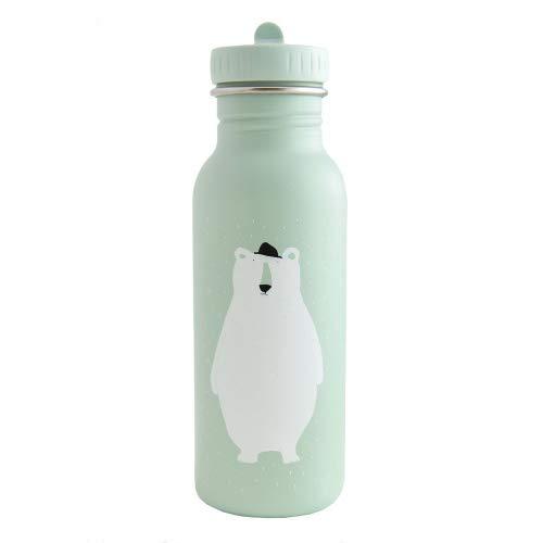 Trixie Baby Botella de 500 ml, diseño de oso, color verde claro