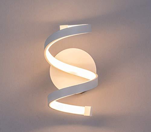 Osairous Lampada da parete LED, Applique in Acrilico bianco, Lampada a muro Creativa illuminazione interni 18W 3500K per Camera da letto, Soggiorno 220V (Luce bianca)