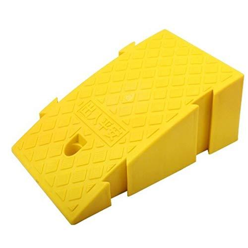 LPYMX Rampa rampa de umbral, 2 Piezas de la Silla de Ruedas acera liquidez Rampa de Acceso for minusválidos Pendiente umbral (Color : Yellow)