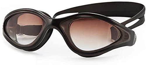 ZJJJD Gafas De Natación Anti-vaho Hd Gafas De Natación Universales Para Hombres Y Mujeres A Prueba De Agua Y Sin Cloro Y Sin Cloro Gafas De Natación Integrales Para Adultos-marrón Gafas Piscina