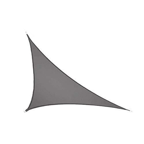 CH-GTJ Toldo Vela De Sombra,Triangular Toldo Vela Protección UV para Terraza Camping Jardín Al Aire,Dark Gray,3X3X4.3m