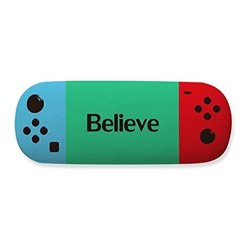 Believe Word - Funda para gafas de almacenamiento, diseño de frase inspiradora