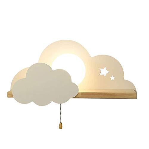 BDXZJ Nube Modelado Lámparas Luces, Lámparas de Pared Infantiles Iluminación Infantil Nocturna Apliques de Pared, Lámparas Decoración Casera para Dormitorio Sala de Estar