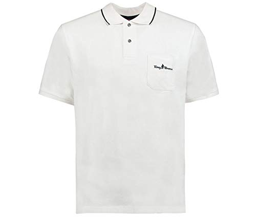 Tony Brown Herren Basic Poloshirt weiß 4XL