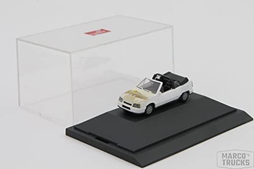 herpa Opel Kadett Cabrio weiß mit Airbrush - in PC-Vitrine - 1:87 - /H13361