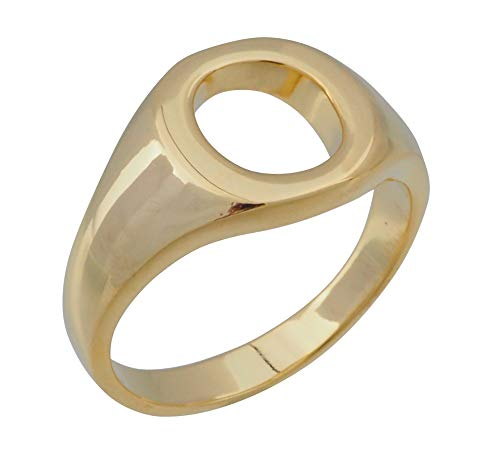 aBALENT(アバレント)印台リング ゴールド シンプル シルバー925 24金 k24 24k スクエア 印台 ピンキーリング メンズ メンズ リング シルバーリング 指輪 (19)