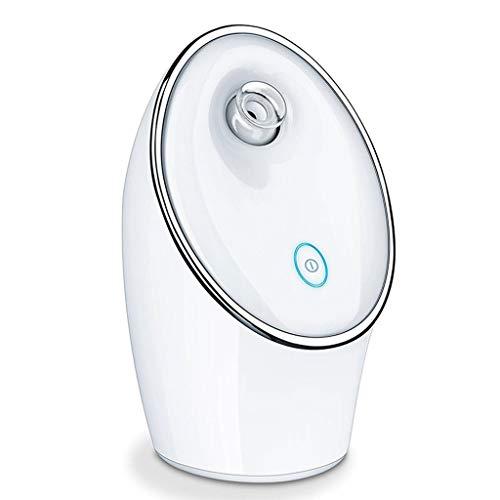 Facial Steamer Vapeur du Visage Nano Spray Visage hydratant Nettoyage Instrument de beauté Ménage Peau du Visage Deep Cleansing tête Noire (Blanc)