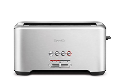 Breville BTA730XL The Bit More 4-Slice Toaster, 16.1 x 8.1 x 7.6 inches, Stainless Steel