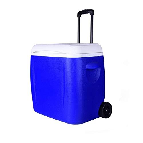 Wyyggnb Cool Box, refrigerador/Calentador con Ruedas | Mantiene el Hielo hasta 5 días | Enfriador Resistente de 38 L con Ruedas para Camping barbacoas Tailgating y Actividades al Aire Libre