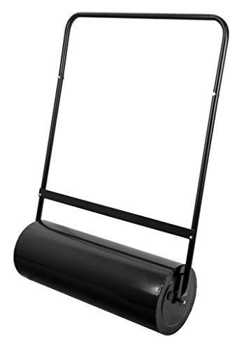 ADGO Rouleau à Gazon 50 x 28 cm de Haut, fût en Acier Capacité 30 L Rempli deau Ou de Sable, pour lentretien et létablissement de la Pelouse, Noir, 1 pièce