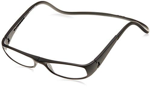 [クリックリーダー] 老眼鏡 CliC Euro メンズ マッドブラック 日本 +2.00-(日本サイズM相当)