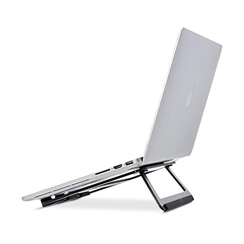 Amazon Basics - Faltbarer Laptop-Ständer aus Aluminium für Laptops bis zu 38 cm (15 zoll), Schwarz