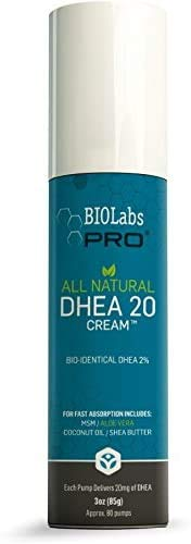 All Natural Bioidentical 20mg Dhea Cream - Two Month Supply - for Men or Women - 3oz
