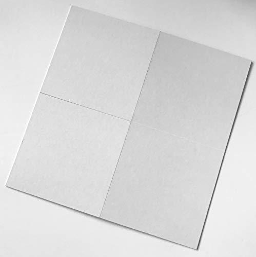 Spieltz DIY Spiel: Blanko Spielbrett zum Gestalten, Karton bezogen mit Leinenpapier, weiß, produziert in Europa. (3 leere Spielbretter)