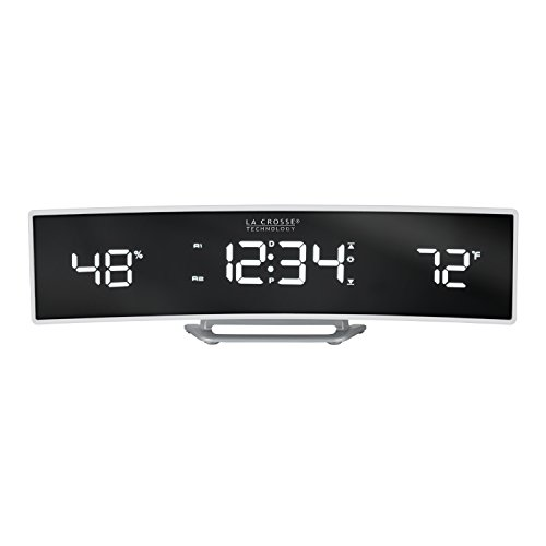 La Crosse Curved Digital Alarm Clock w/ USB Port  $26 at Amazon