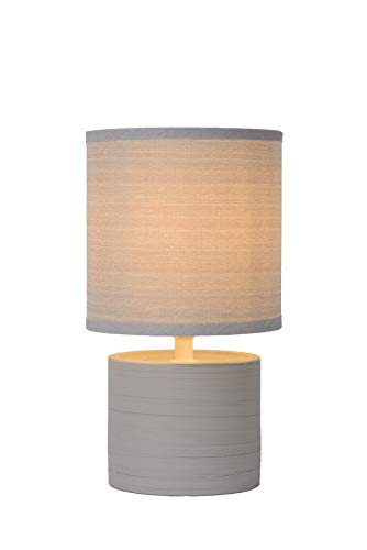 Lucide GREASBY - Lampe De Table - Ø 14 cm - Gris