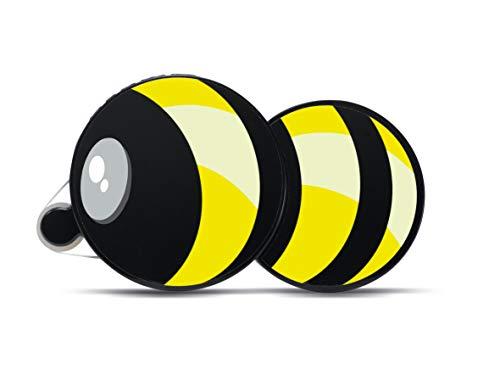 HERMA 1104 lijmroller 15 m x 9 mm, zwart/geel