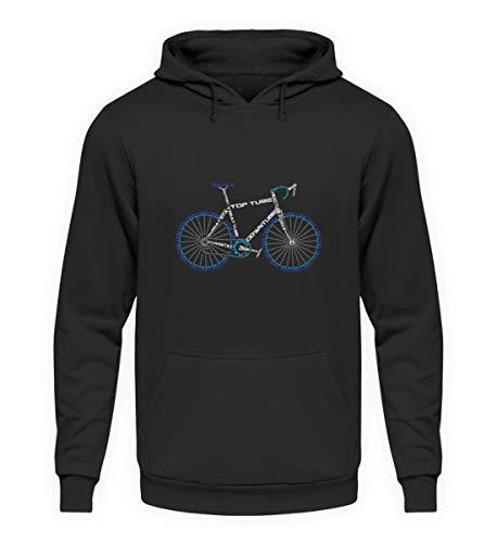 Rennrad Motiv - Cooles Fahrrad Bike Motiv Biking Radsport MTB Lustig Rennen Geschenk - Unisex Kapuzenpullover Hoodie -4XL-Jet Schwarz