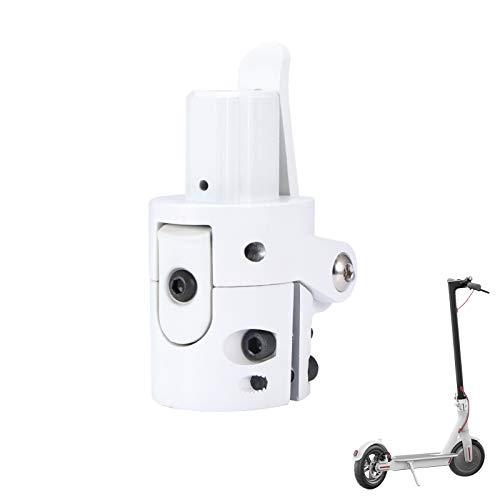 Konesky Scooter Electrico Base de Poste Plegable, Gancho de Tornillo de Bloqueo Conector de Metal Repuestos de Repuesto Compatible con Xiaomi M365 (Blanco)