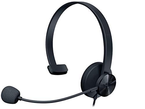 Razer Tetra 片耳 ヘッドセット 3.5mm 超軽量 左右どちらでも使用可能なマイク 会議通話 ボイスチャット ゲ...