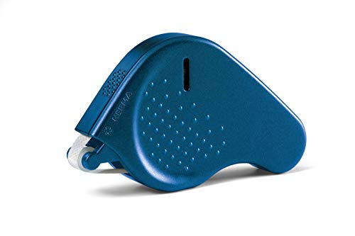 HERMA 1013 Kleberoller, permanent (15 m x 9 mm, nachfüllbar) selbstklebender Klebespender mit doppelseitigen Klebepunkten für Fotos, Basteln, Schule und Büro, blau