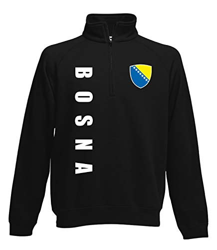 Aprom Bosnien Zip Sweater Pullover Trikot Look Neck Fussball Sport SPA (M)