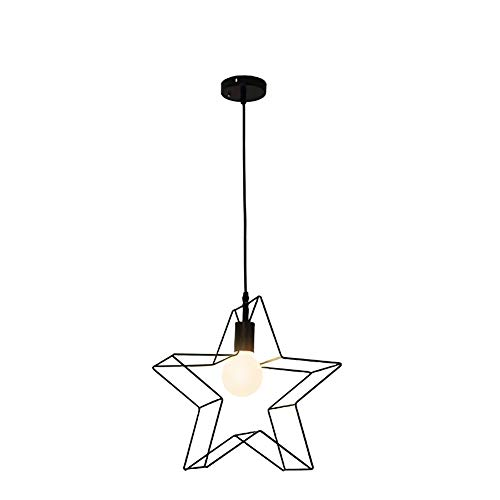 Led industriële retro hanglampen Mmodern Mode Vintage eettafel hanglamp stervorm design zwart metalen frame in hoogte verstelbaar slaapkamer eetkamer kroonluchter E27